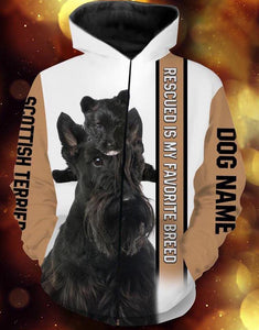 Personalized Scottish Terrier dog name 3D full printing - TATS63