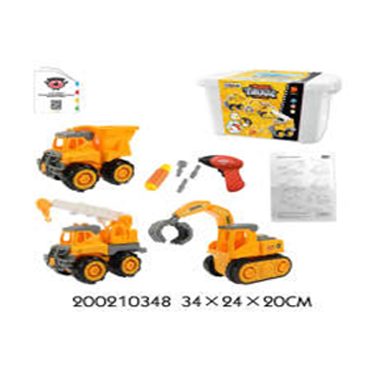 3 in 1 Complete Take Apart Truck Set