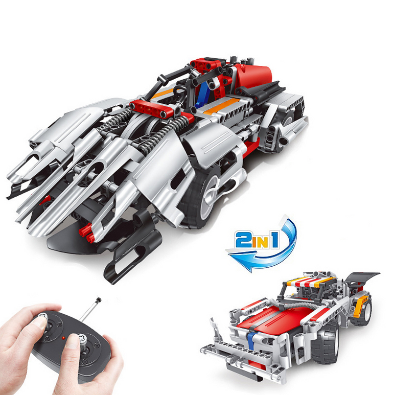 Remote Control White Speed Racer Building Set