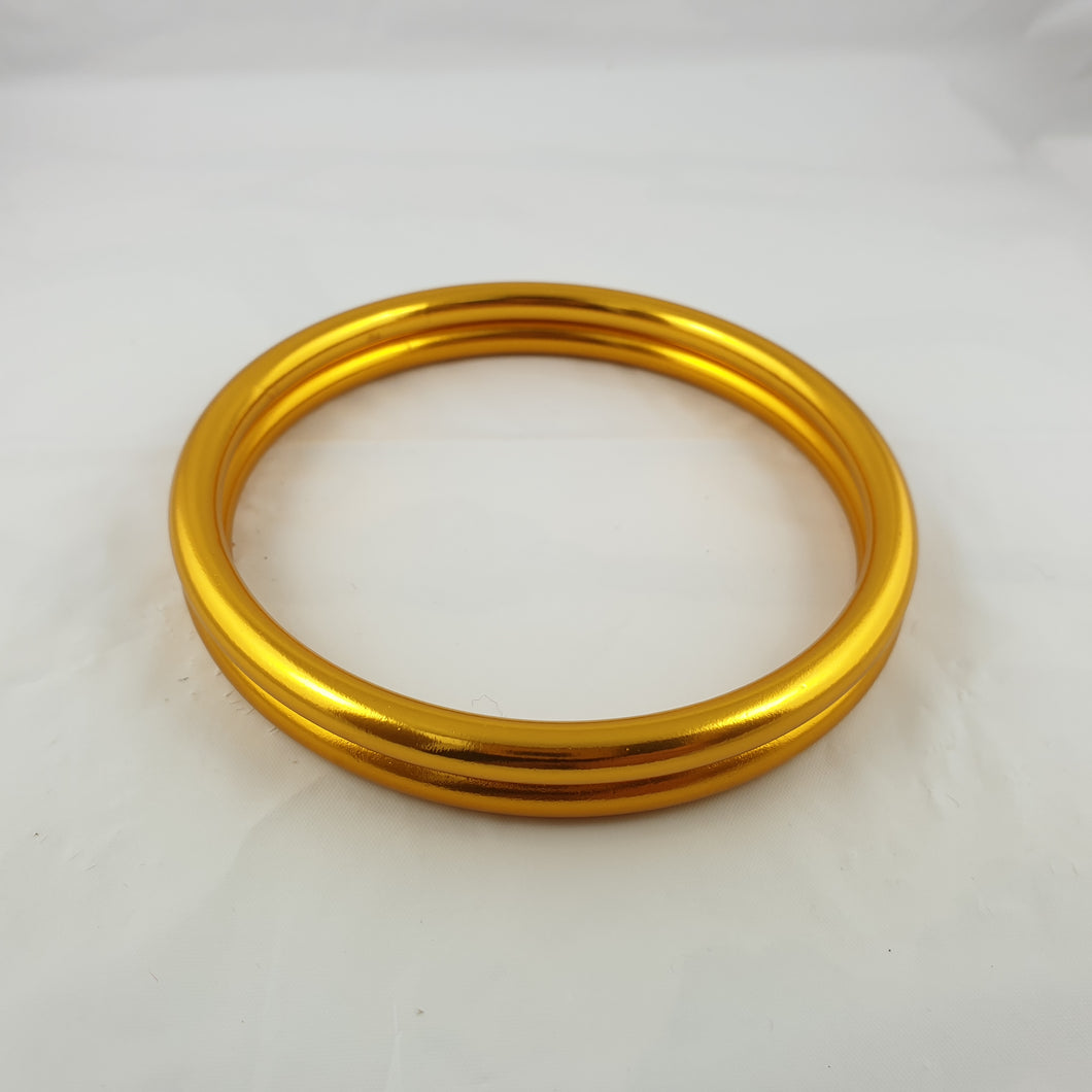 Shiny Yellow Gold Aluminium Sling Rings