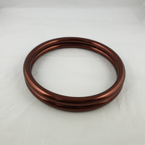 Shiny Dark Bronze Aluminium Sling Rings