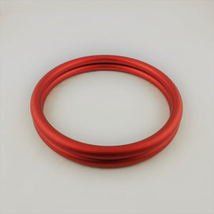 Matte Red Aluminium Sling Rings