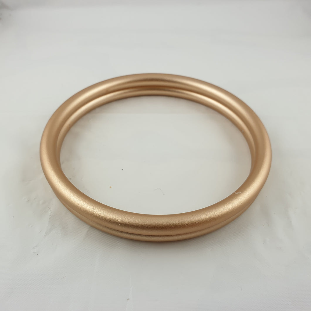Matte Rose Gold Aluminium Sling Rings