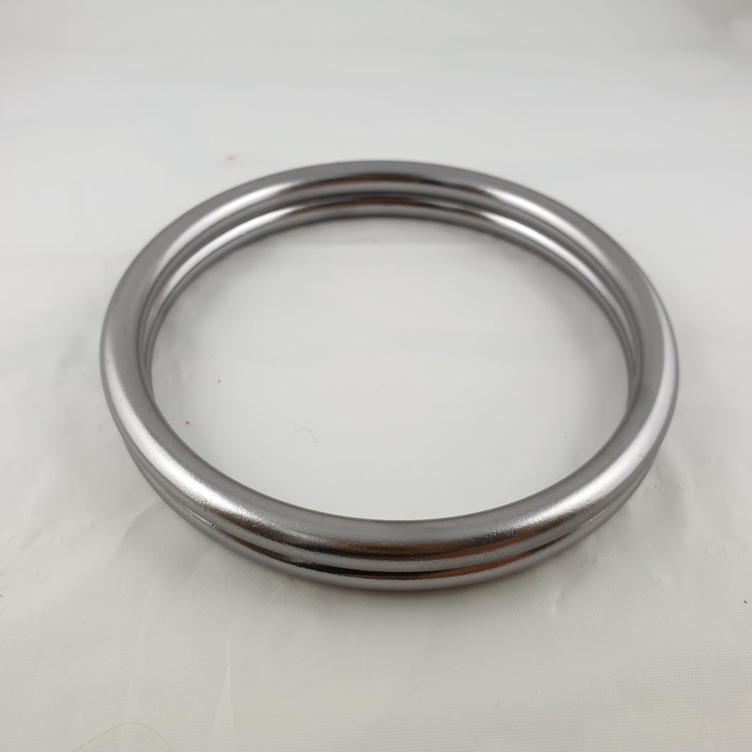 Shiny Light Grey Aluminium Sling Rings