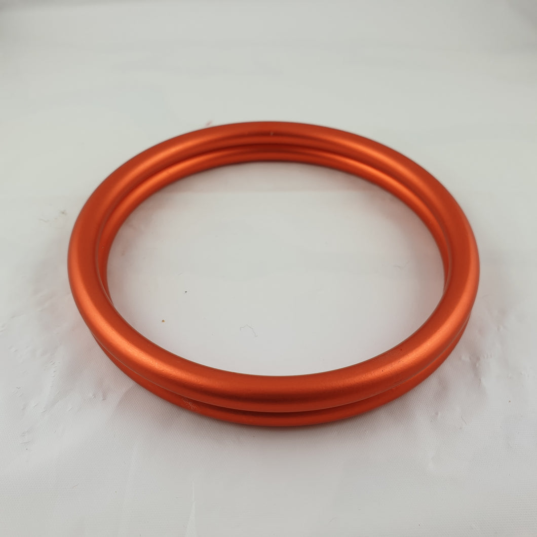 Matte Orange Aluminium Sling Rings