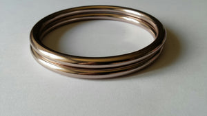"Shiny Champagne 3 "" Large Aluminium Sling Rings 2nd Grade"