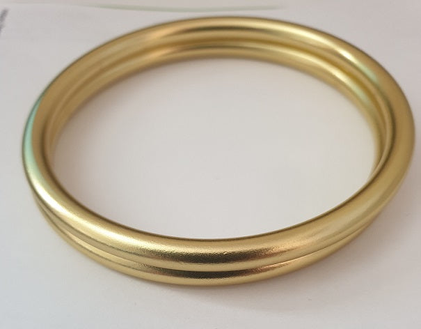 Shiny Gold Aluminium Sling Rings