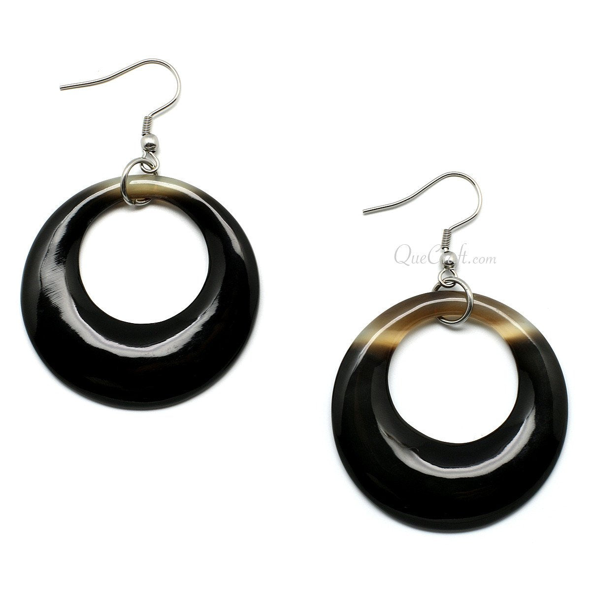 Horn Earrings #10407 - HORN.JEWELRY by QueCraft