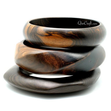 Ebony Bangle Bracelets - Q11339