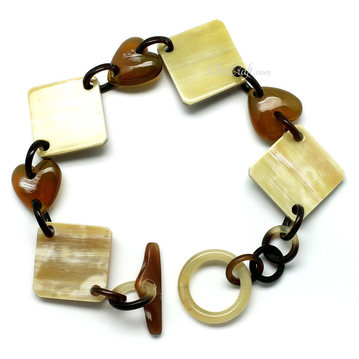 Horn Chain Bracelet #11507 - HORN.JEWELRY by QueCraft