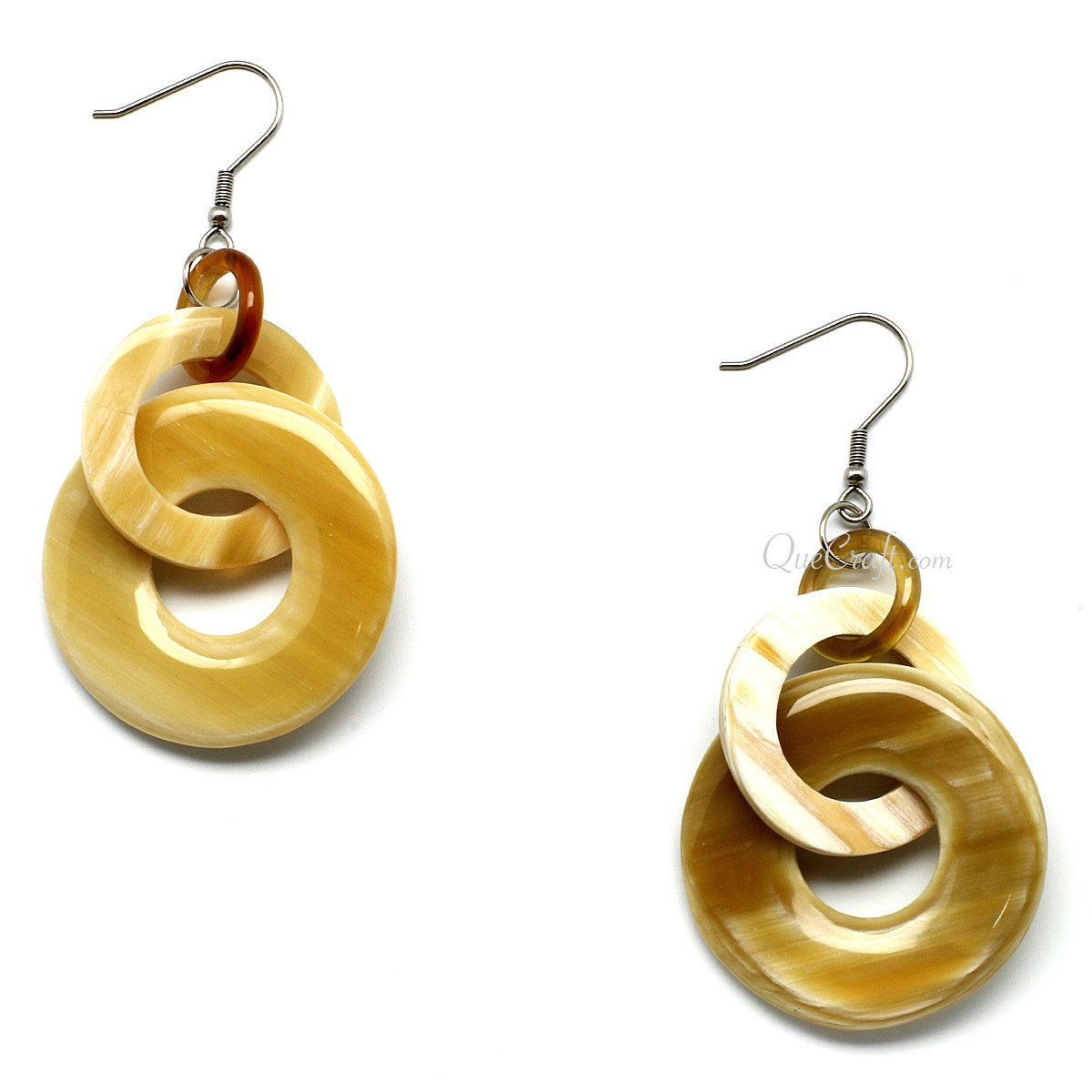 Horn Earrings #9787 - HORN.JEWELRY by QueCraft