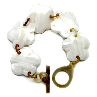 Shell & Horn Chain Bracelet #9915 - HORN.JEWELRY