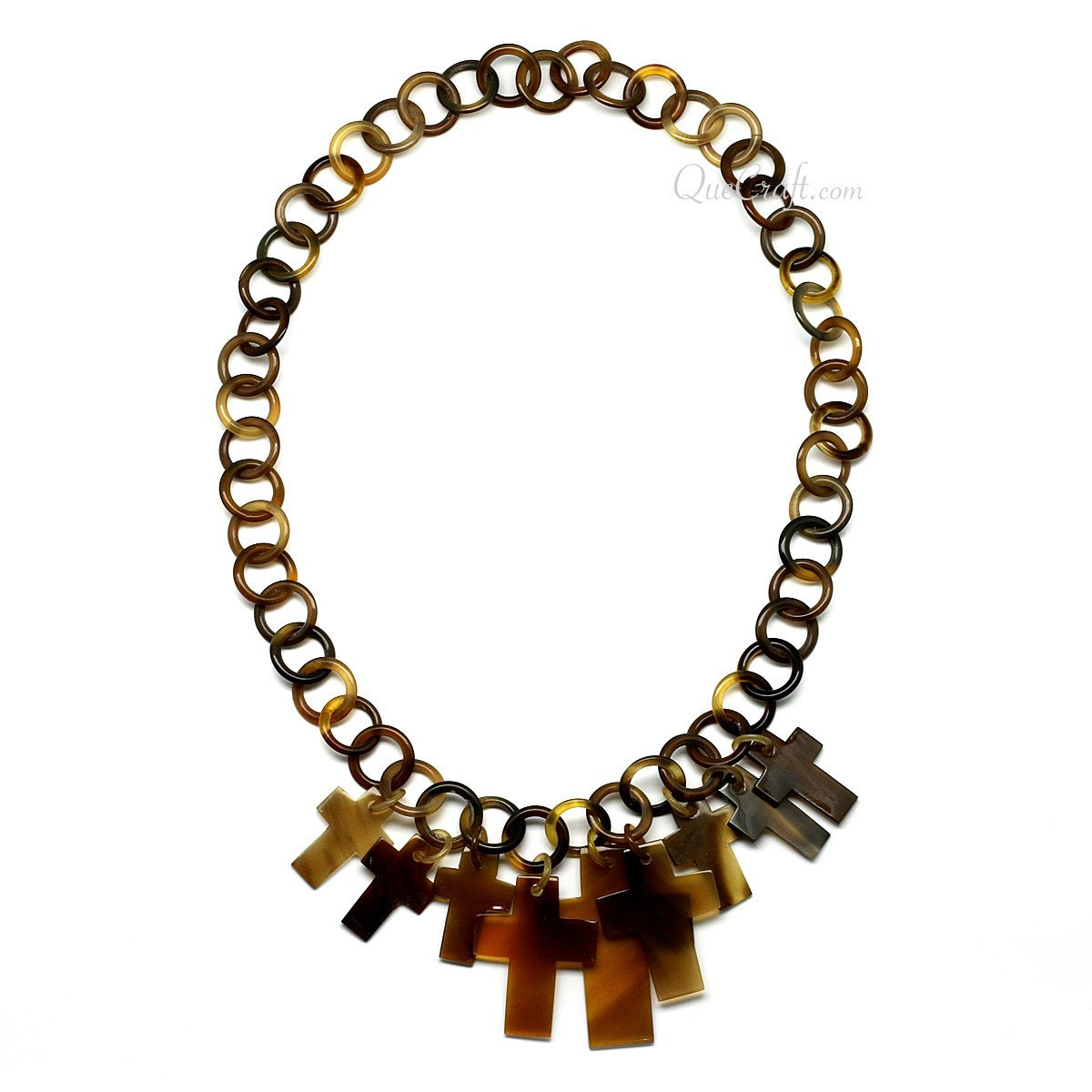Horn Chain Necklace #10266 - HORN.JEWELRY by QueCraft