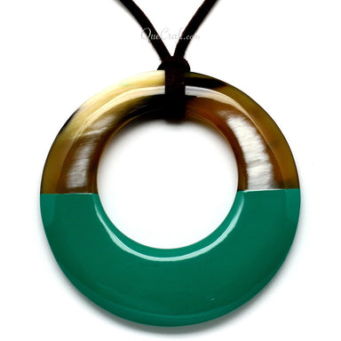 Horn & Lacquer Pendant #5706 - HORN.JEWELRY