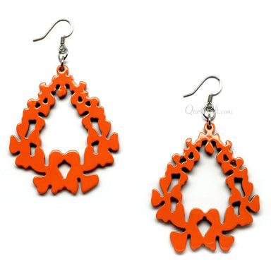 Horn & Lacquer Earrings - Q11098