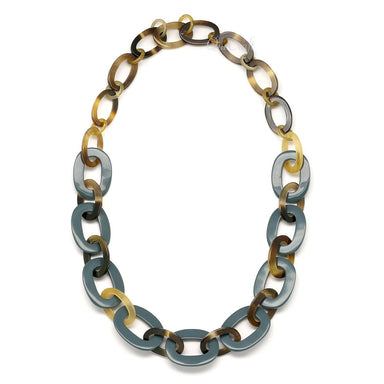 Horn & Lacquer Chain Necklace #4392 - HORN.JEWELRY