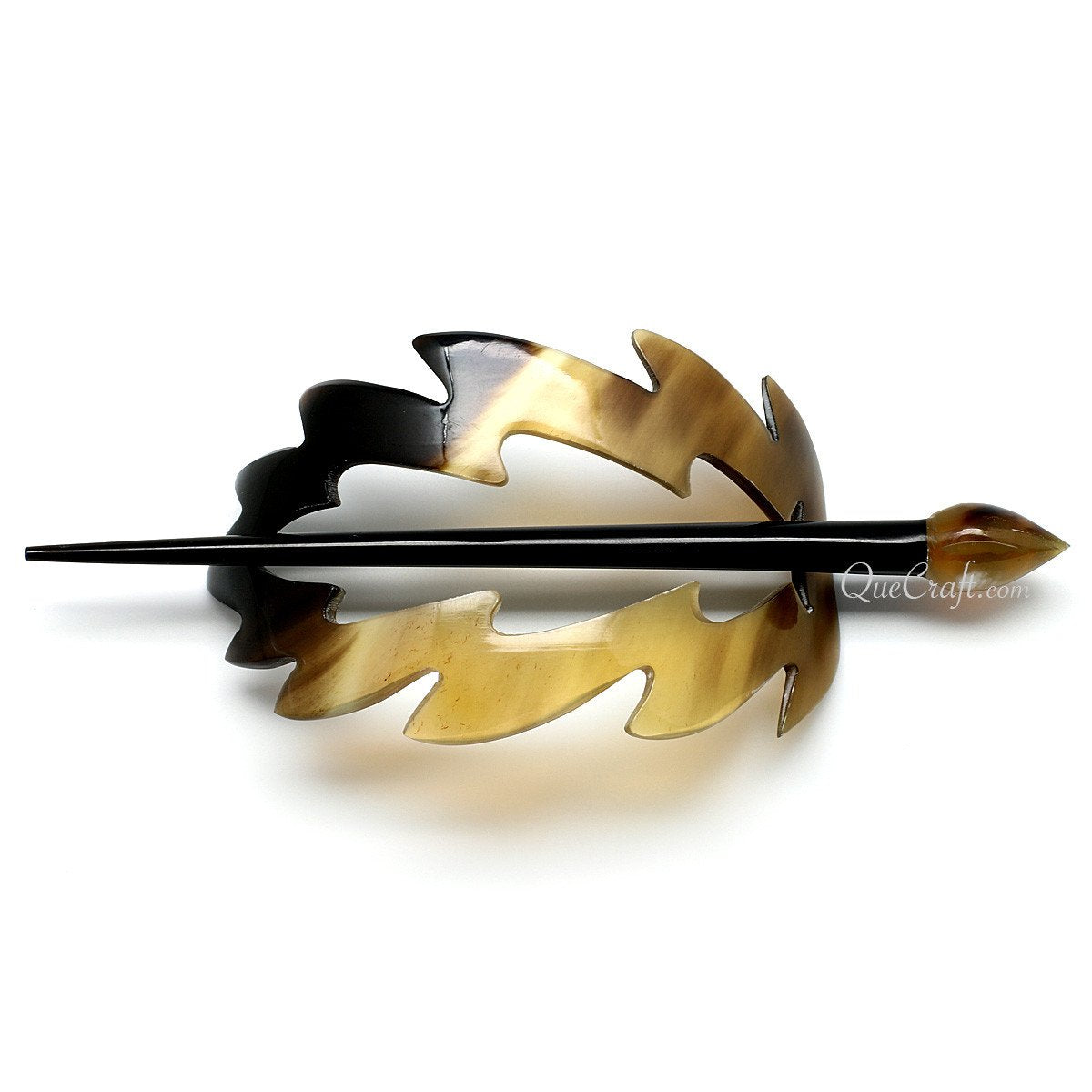 Horn Hair Barrette #10910 - HORN.JEWELRY by QueCraft