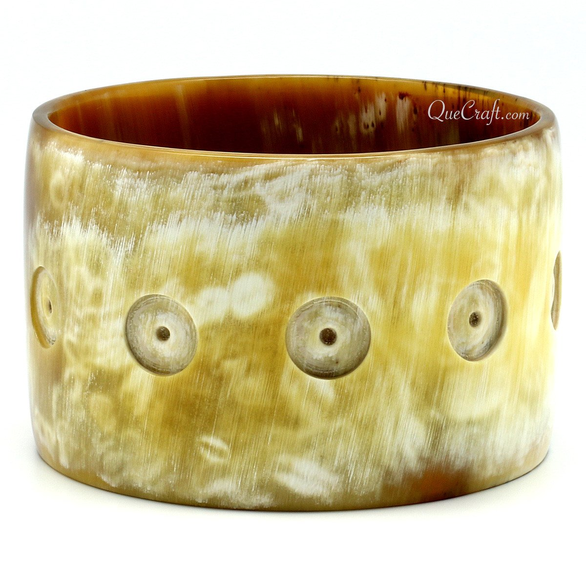 Horn Bangle Bracelet #9904 - HORN.JEWELRY by QueCraft