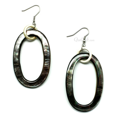 MOP & Horn Earrings #11587 - HORN.JEWELRY