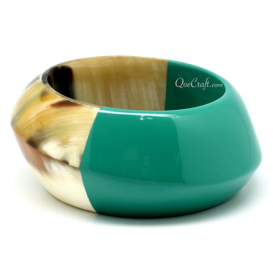 Horn & Lacquer Bangle Bracelet #11090 - HORN.JEWELRY