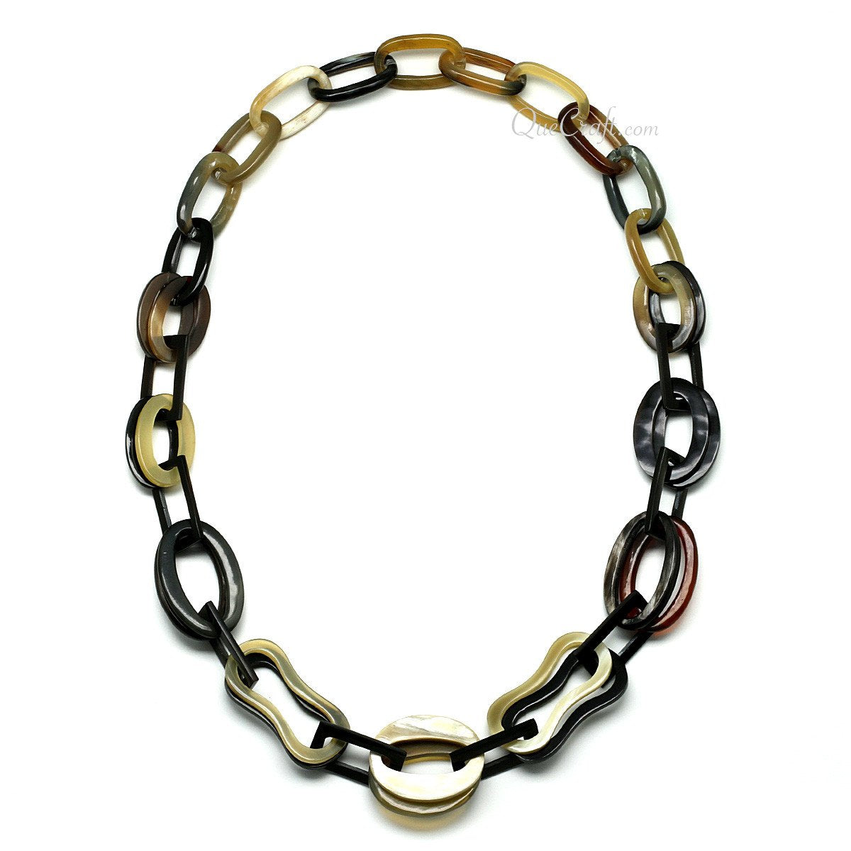 Horn Chain Necklace #11483 - HORN.JEWELRY by QueCraft