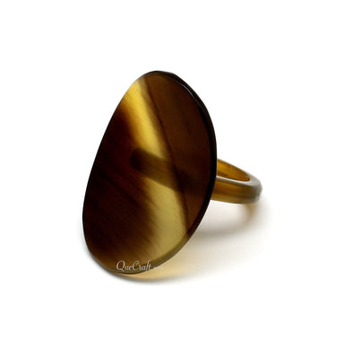 Horn Ring #10153 - HORN.JEWELRY by QueCraft