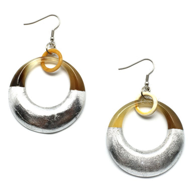 Horn & Lacquer Earrings - Q5018