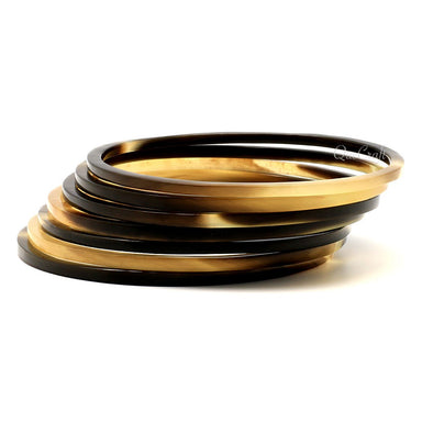 Horn Bangle Bracelets #9268 - HORN.JEWELRY by QueCraft