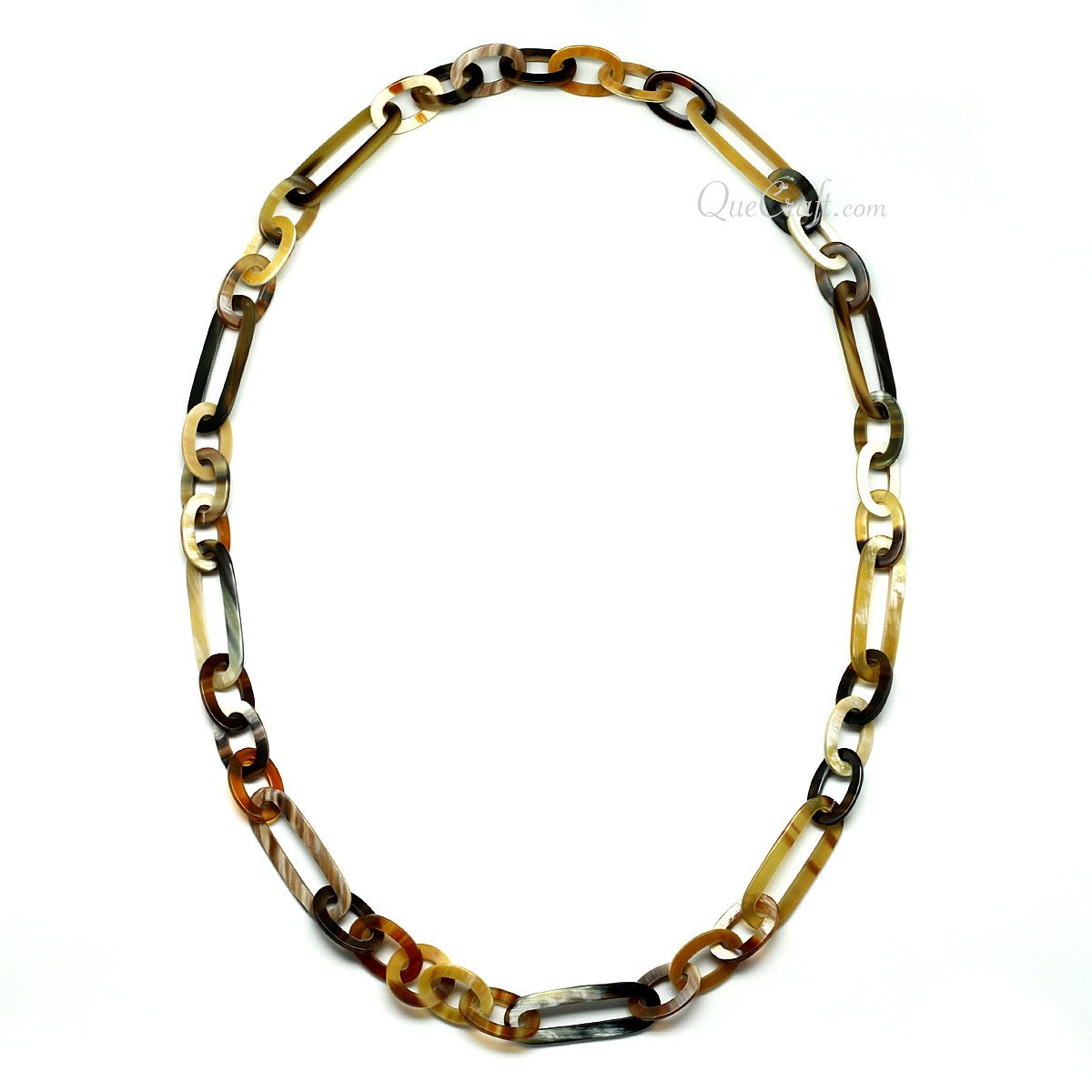 Horn Chain Necklace #11619 - HORN.JEWELRY by QueCraft