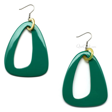 Horn & Lacquer Earrings #6193 - HORN.JEWELRY