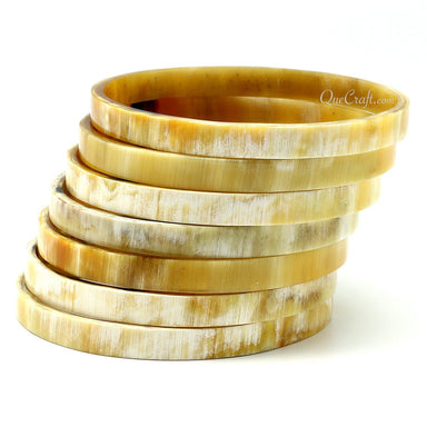 Horn Bangle Bracelets #11490 - HORN.JEWELRY by QueCraft