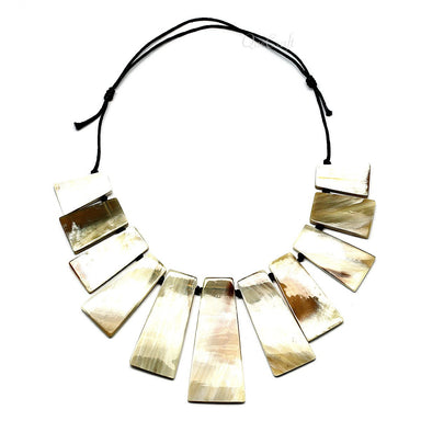 Horn String Necklace #9675 - HORN.JEWELRY by QueCraft