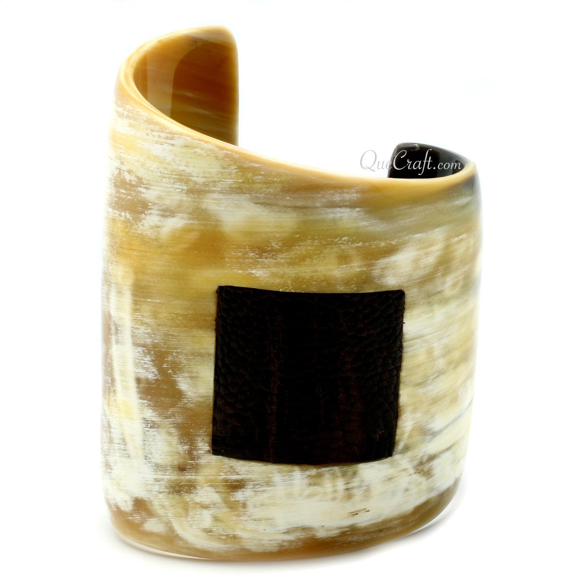 Horn & Leather Cuff Bracelet #10436 - HORN.JEWELRY