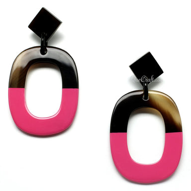 Horn & Lacquer Earrings #10758 - HORN.JEWELRY by QueCraft