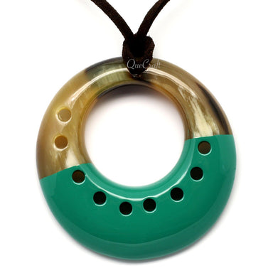 Horn & Lacquer Pendant #5753 - HORN.JEWELRY