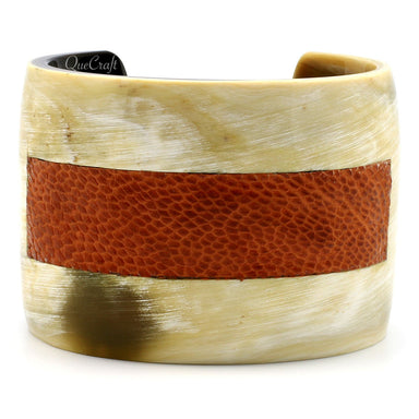 Horn & Leather Cuff Bracelet #5483 - HORN.JEWELRY