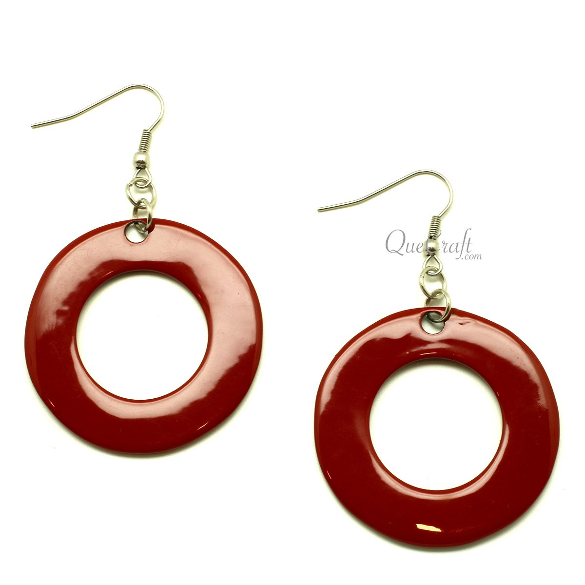 Horn & Lacquer Earrings #13400 - HORN.JEWELRY by QueCraft
