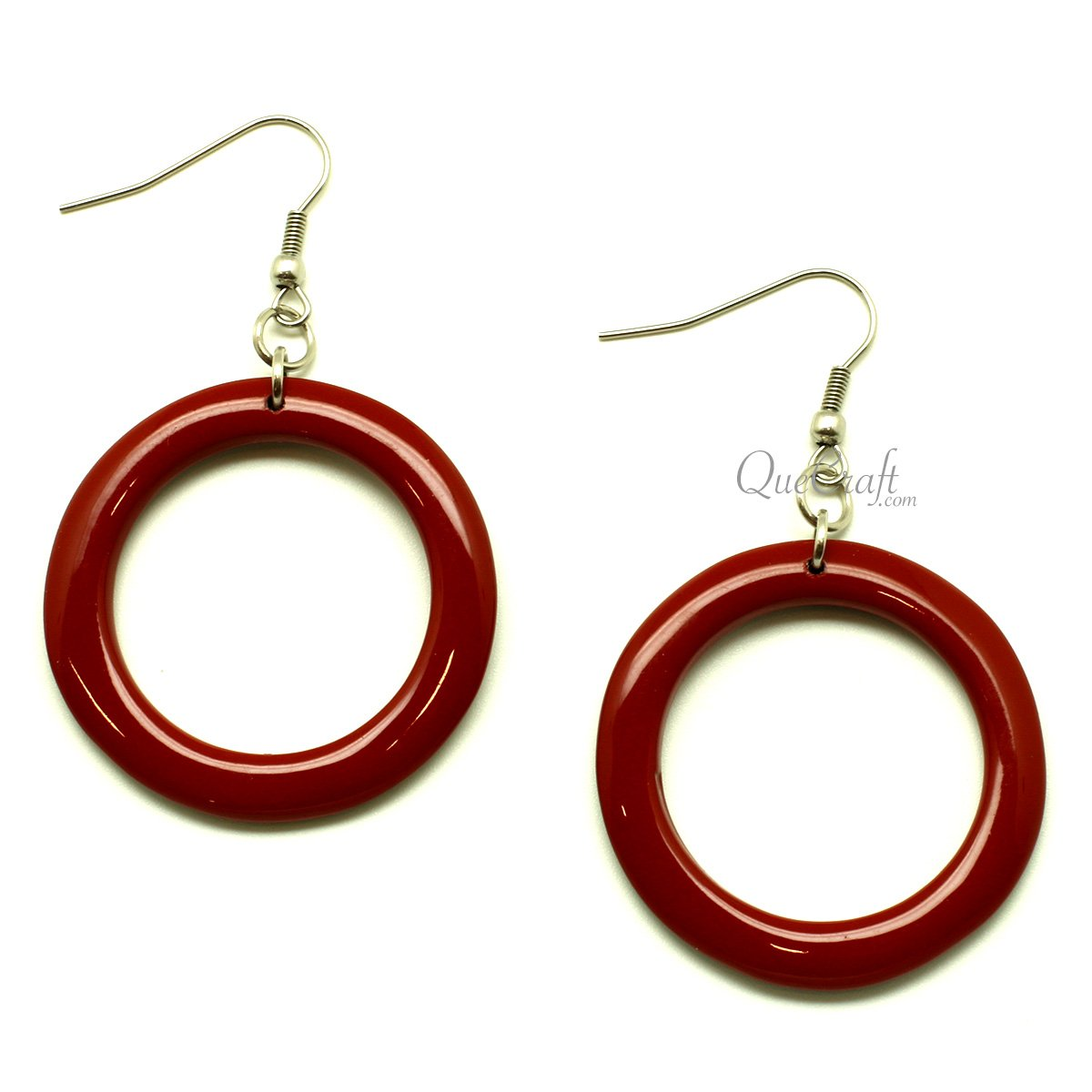 Horn & Lacquer Earrings #13401 - HORN.JEWELRY by QueCraft