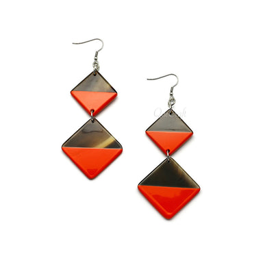 Horn & Lacquer Earrings #9741 - HORN.JEWELRY