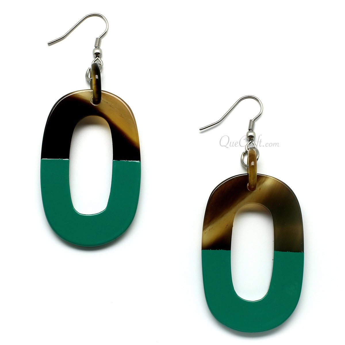 Horn & Lacquer Earrings #9743 - HORN.JEWELRY by QueCraft