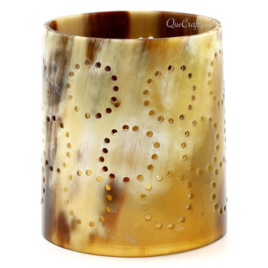 Horn Candle Holder #11286 - HORN.JEWELRY