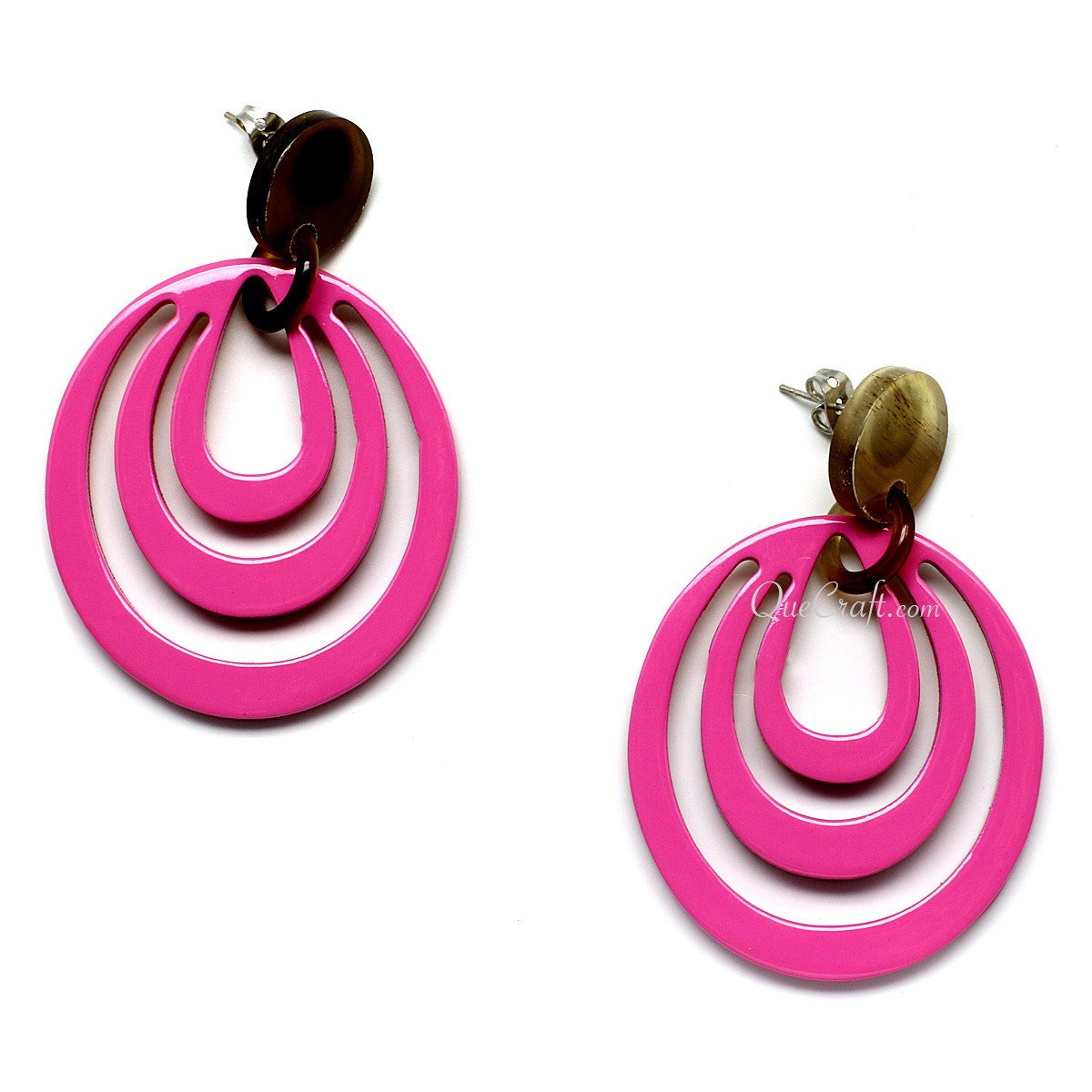 Horn & Lacquer Earrings #11111 - HORN.JEWELRY