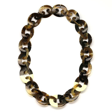 Horn & Lacquer Chain Necklace - Q4659
