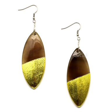 Horn & Lacquer Earrings - Q5070