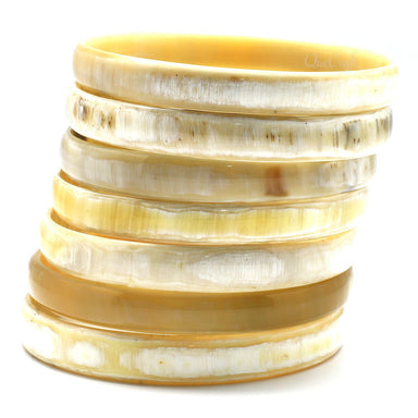 Horn Bangle Bracelets #9318 - HORN.JEWELRY by QueCraft