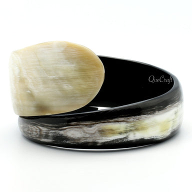 Horn Bangle Bracelet #10482 - HORN.JEWELRY by QueCraft