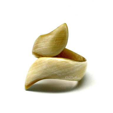 Horn Ring #10348 - HORN.JEWELRY by QueCraft