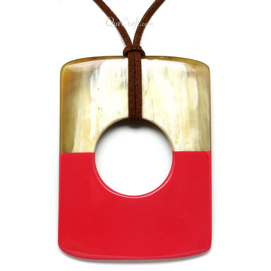 Horn & Lacquer Pendant #10875 - HORN.JEWELRY