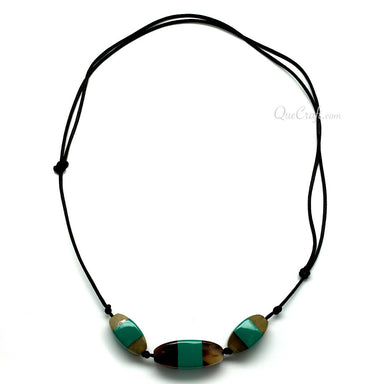 Horn & Lacquer String Necklace - Q11364
