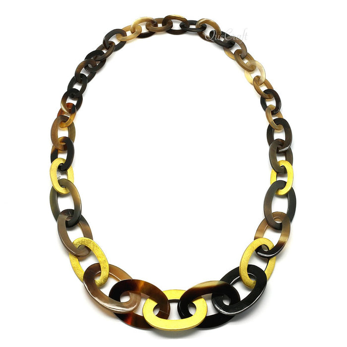 Horn & Lacquer Chain Necklace - Q6807
